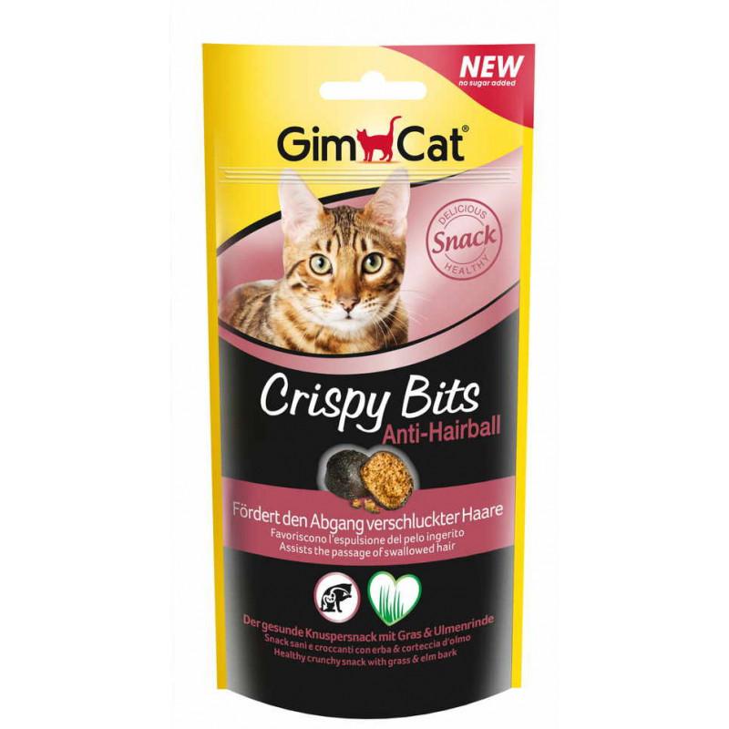 GimСat (ДжимКэт) Crispy Bits Anti-Hairball. Лакомство для выведения шерсти у котов