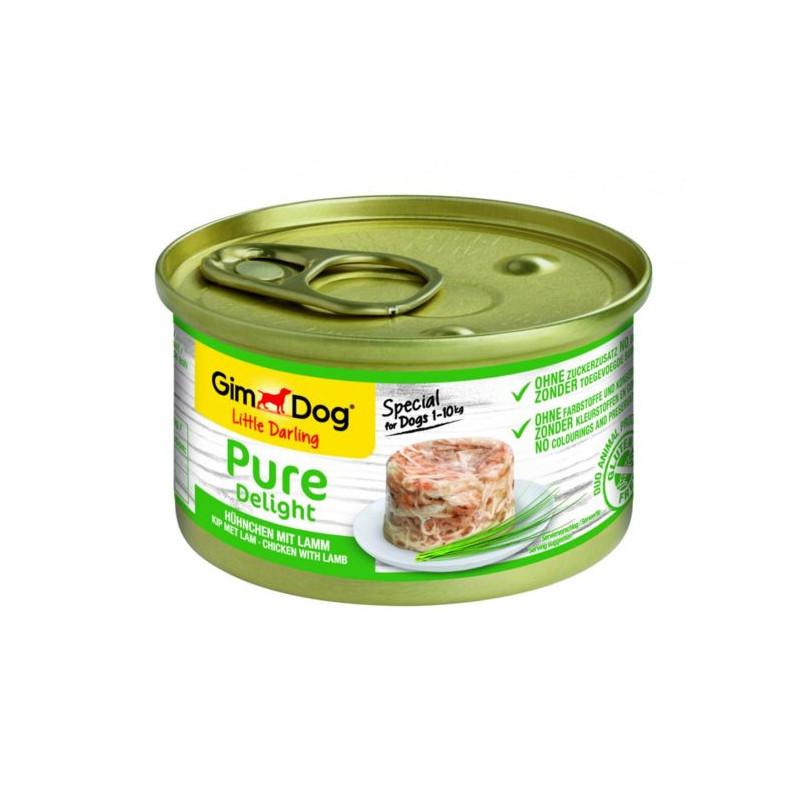 GimDog LITTLE DARLINGD Pure Delight Консервы для собак с курицей и ягненком