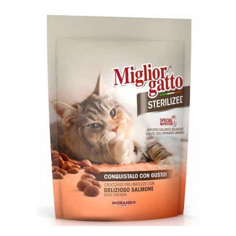 Morando (Морандо) Migliorcane Sterilized. Сухой корм с нежным лососем для взрослых стерилизованных котов
