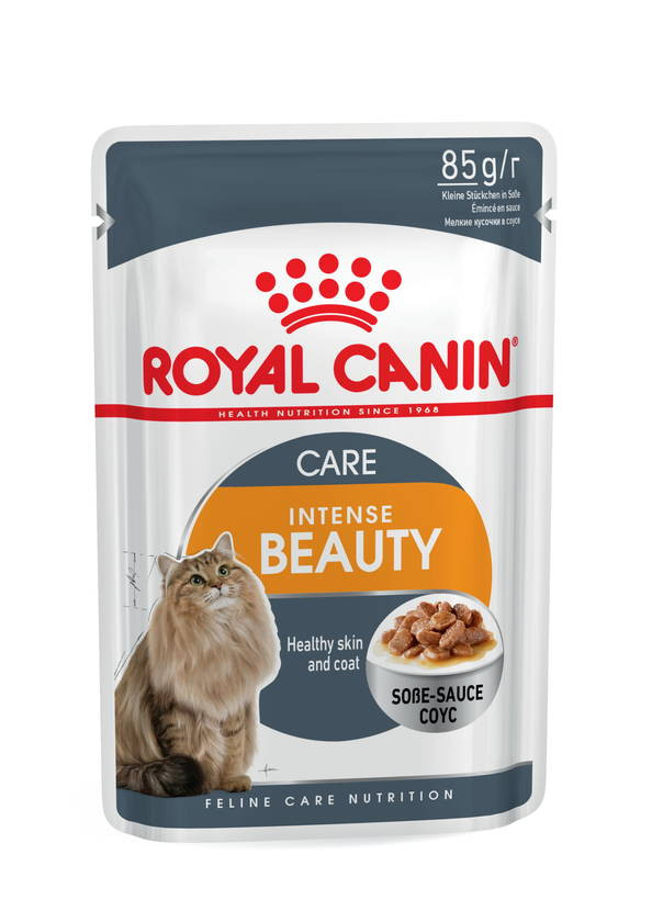 Royal Canin (Роял Канин) Intense Beauty - Консервированный корм для кошек для поддержания красоты шерсти (кусочки в соусе) - Фото 2