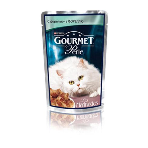 Gourmet PERLE (Гурмет Перл) - Пауч с филе форели в маринаде для кошек
