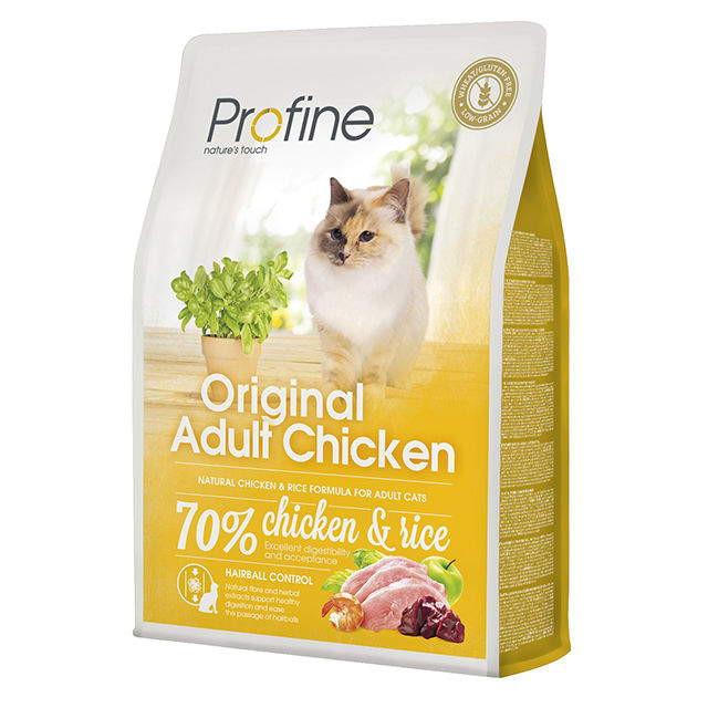 Profine (Профайн) Cat Original Adult - Сухой полноценный корм с курицей для котов и кошек - Фото 3