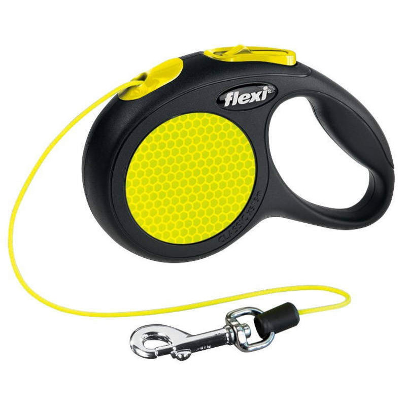 Flexi (Флекси) New Neon - Поводок-рулетка для собак, светящийся в темноте, трос