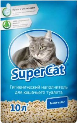 SuperCat (СуперКэт) Fresh-color. Древесный наполнитель