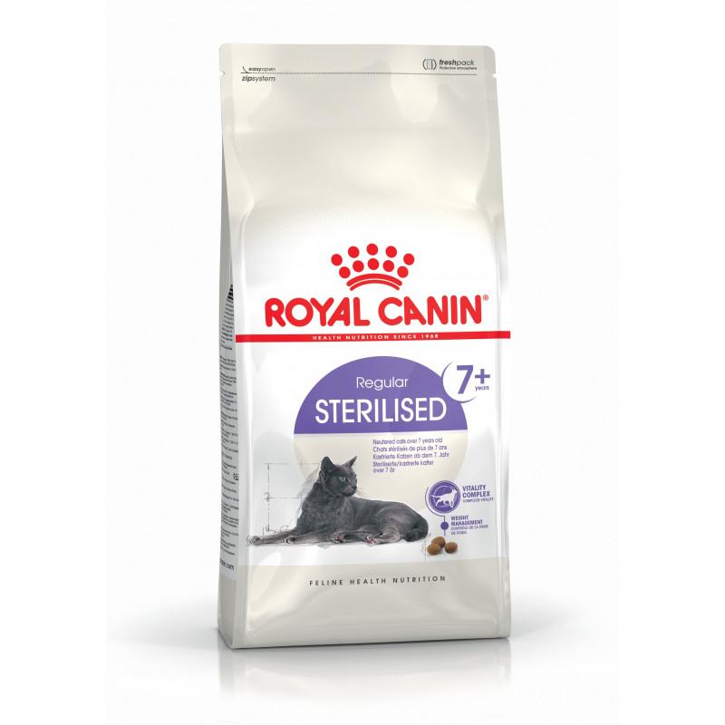 Royal Canin Sterilised 7+ полнорационный корм для котов и кошек после стерилизации старше 7 лет