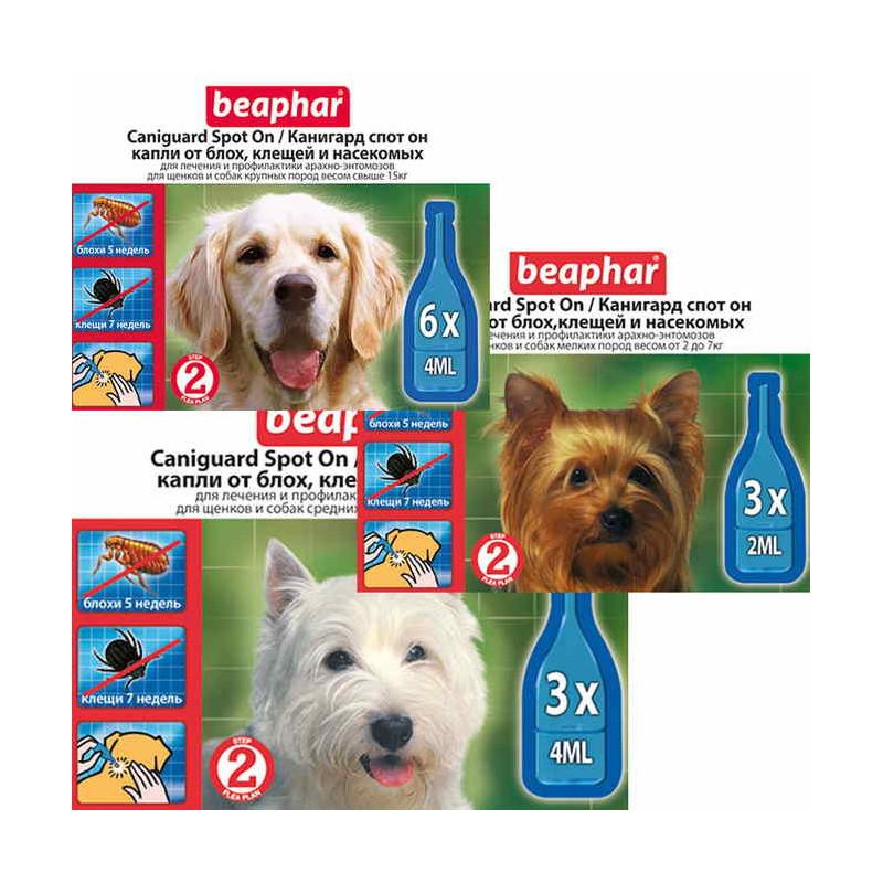 Beaphar (Биафар) Caniguard Spot On - Канигард капли от блох и клещей для щенков и собак