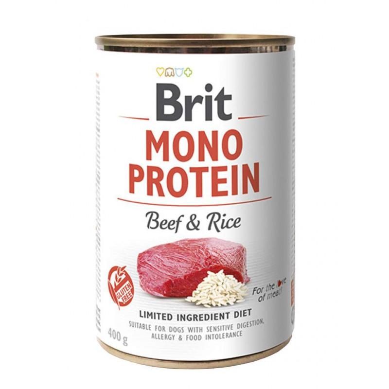 Brit (Брит) Mono Protein Beef & Rice Консервы для собак с говядиной и рисом