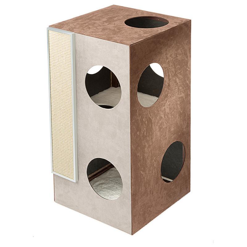 Ferplast (Ферпласт) Kubo 2 - Двухэтажный домик из водоотталкивающей ткани для кошек