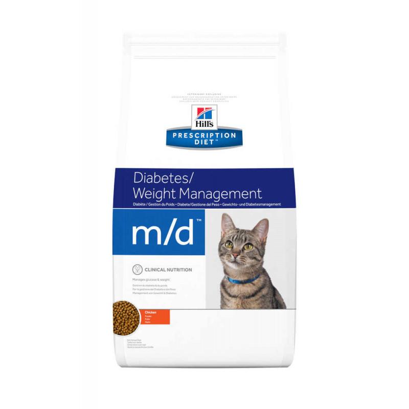 Hill's (Хиллс) Prescription Diet m/d Diabetes/Weight Management - Корм-диета для кошек с курицей ИЗБЫТОЧНЫЙ ВЕС / САХАРНЫЙ ДИАБЕТ