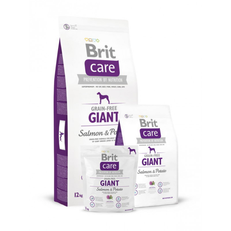Brit Care (Брит Кеа) Grain-free GIANT корм д/собак гигантских пород(лосось/картофель)