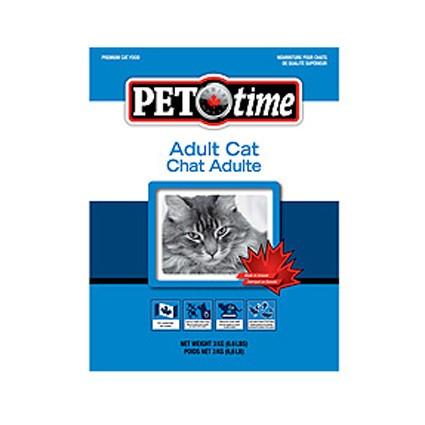 PET TIME (Пет Тайм) Adult cat food - Сухой корм для взрослых кошек с птицей и сельдью