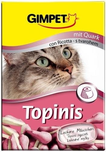 GimCat (джимКэт) Topinis - Витаминные мышки с сыром для улучшения пищеварения котов и кошек - Фото 2