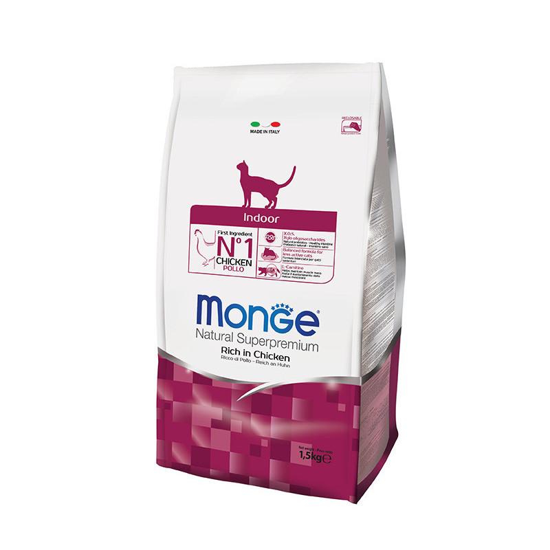 Monge (Монже) Indoor Rich in Chicken - Сухой корм с курицей для малоактивных кошек живущих в помещении