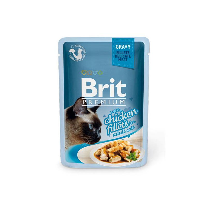 Brit Premium Brit Premium (Брит Премиум) Cat Chiсken fillets in Gravy - Влажный корм с кусочками из куриного филе в соусе для кошек