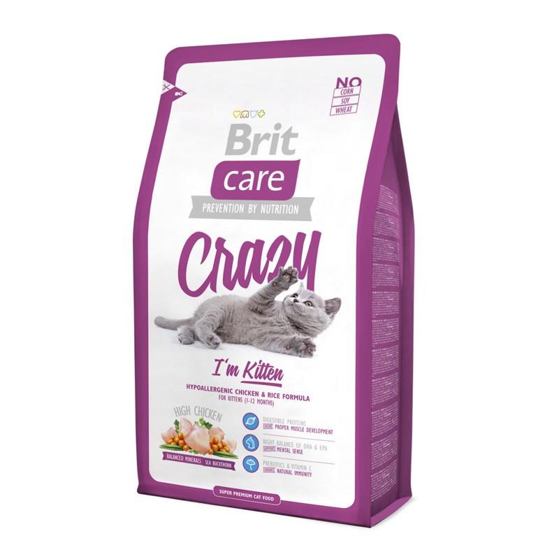 Brit Care (Брит Кеа) Crazy. Сухой корм с курицей и рисом для котят