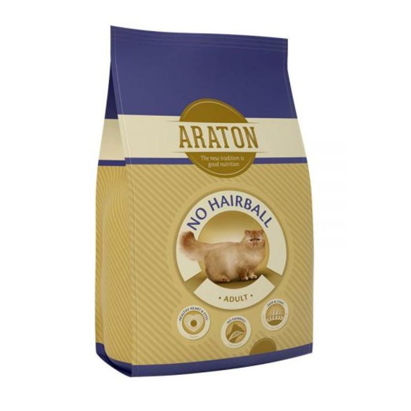 Araton (Аратон) Adult No Hairball - Сухой корм с птицей и кукурудзой для взрослых кошек, страдающих от образования волосяных шариков в кишечнике