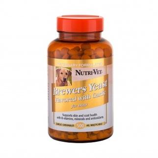 Таблетки Nutri-Vet Brewers Yeast with Grarlic комплекс для шерсти собак