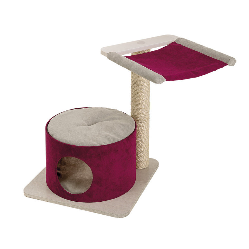 Ferplast (Ферпласт) Simba - Игровой комплекс для кошек с полочками спальным местом и колоной