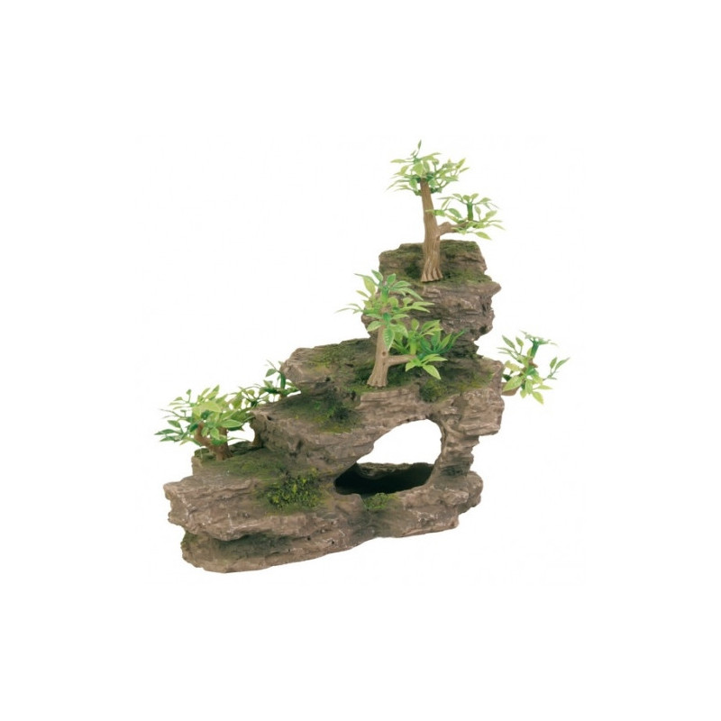 Утёс с растениями TRIXIE для декора аквариума