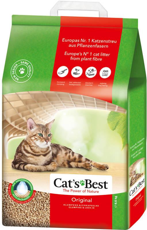 Cat's Best (Кэтс Бест) Original - Древесный хлопьевидный комкующийся наполнитель для кошачьего туалета - Фото 7