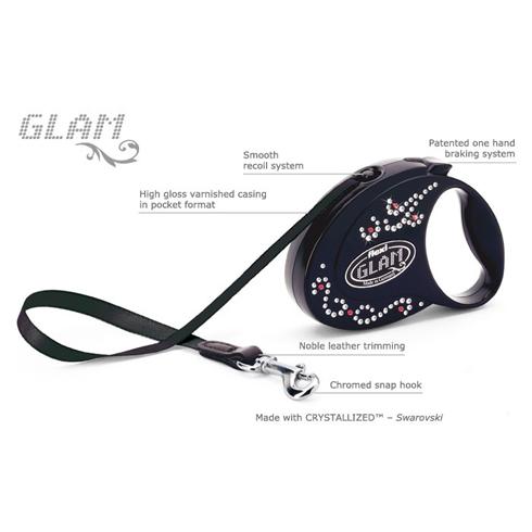 Flexi (Флекси) Glam S - Поводок-рулетка для собак малых пород