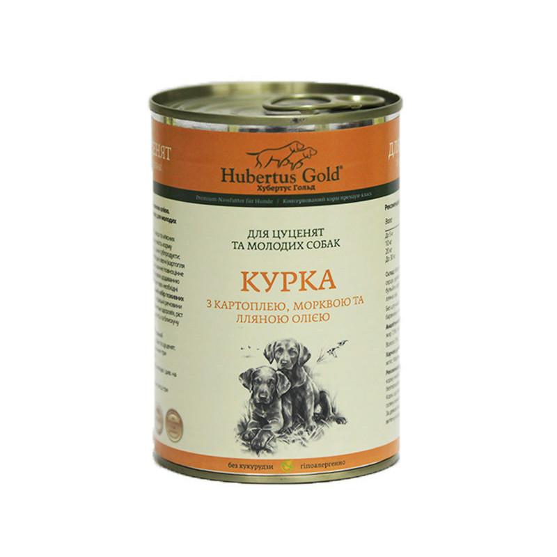 Hubertus Gold (Хубертус Гольд) Курица с Картошкой и Морковкой корм для щенков и молодых собак