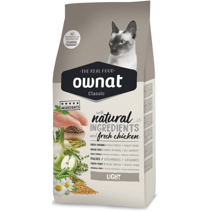 Ownat (Овнат) Adult Light - Сухой низкокалорийный корм с курицей для малоактивных котов