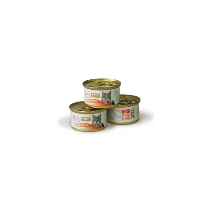 Brit Care (Брит Кеа). Консервы с куриной грудкой в соусе для кошек