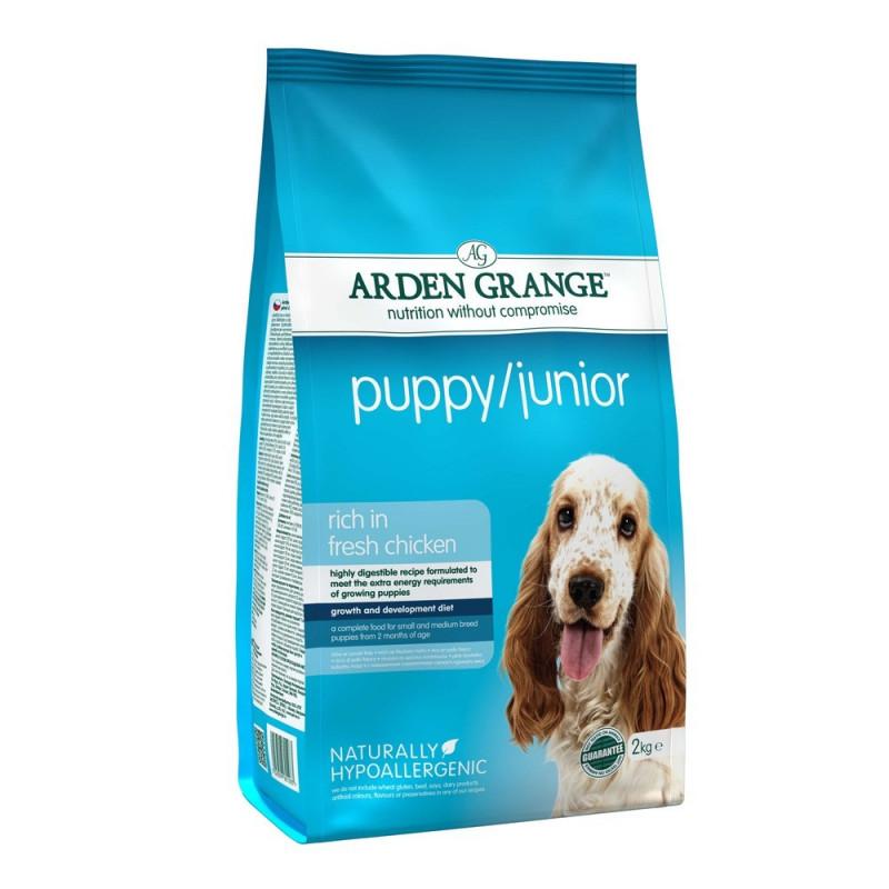 Arden Grange Puppy Junior Корм для щенков и молодых собак с курицей и рисом