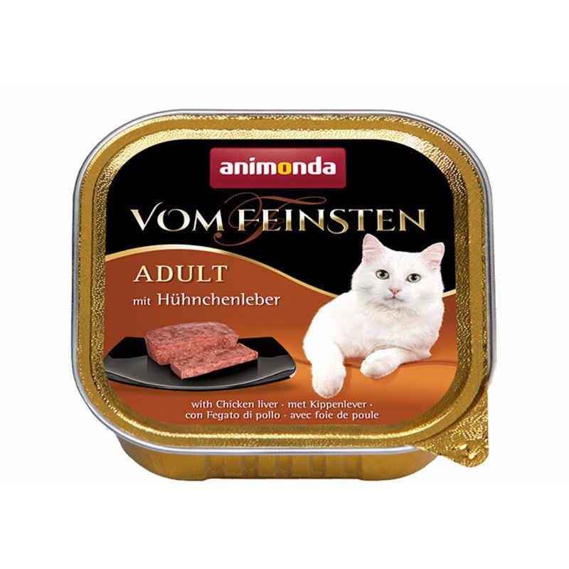 Animonda (Анимонда) Vom Feinsten Adult - Консервированный корм в виде паштета с куринной печенью для взрослых кошек