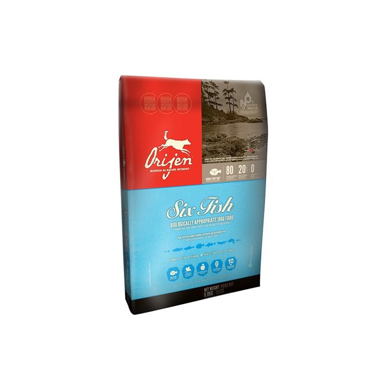 Orijen (Ориджен) 6 Fresh Fish Dog - Сухой корм из мяса 6-и видов рыбы для собак всех пород и всех стадий жизни