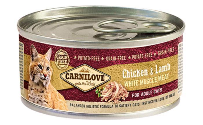 Влажный корм Carnilove (Карнилав) Cat Chicken & Lamb с мясом курицы и ягненка