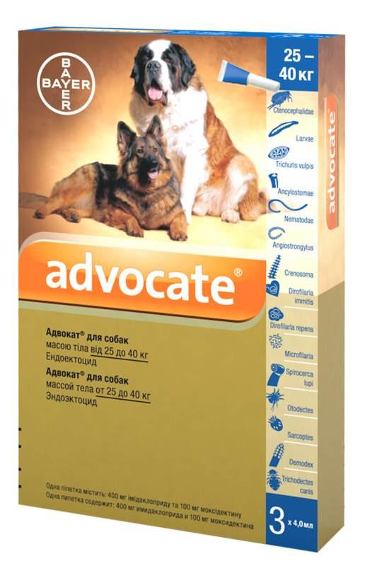 Advocate (Адвокат) by Bayer Animal - Противопаразитарные капли для собак от блох, вшей, клещей, гельминтов (1 пипетка) - Фото 3