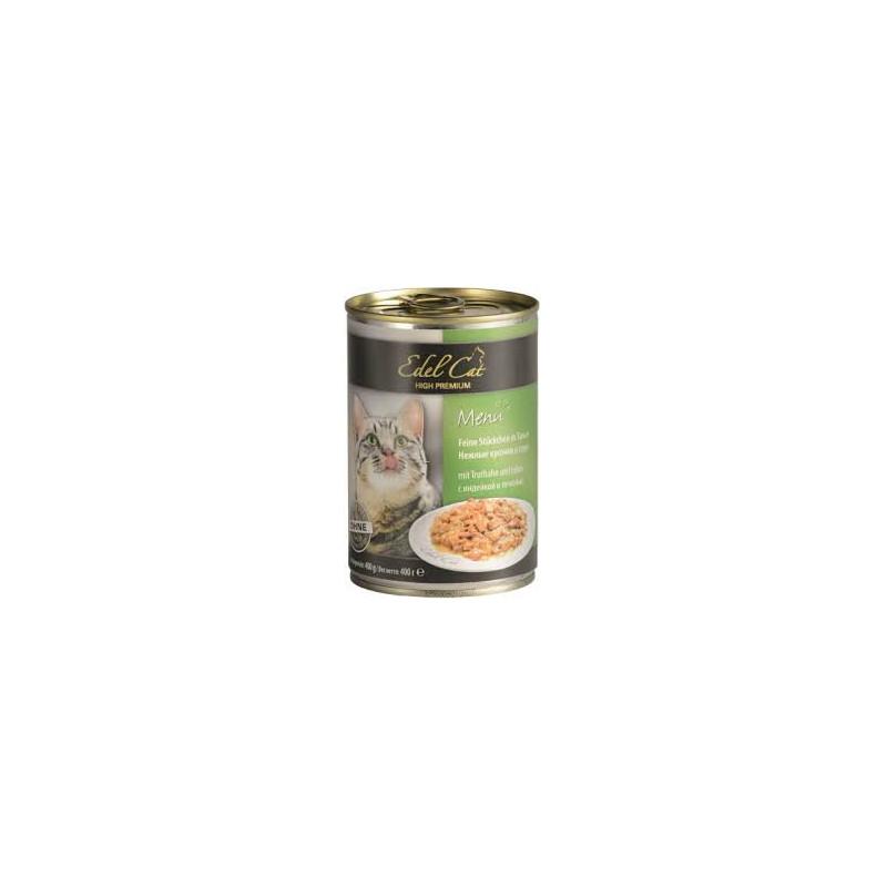 Консервы Edel (Едел) Cat для кошек с мясом индейки и печенью