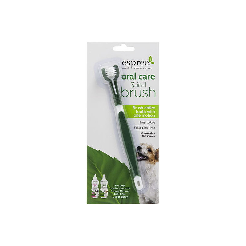 ESPREE (Эспри) Natural Oral Care 3 in 1 Brush - Щетка для ухода за зубами и полостью рта собак  3 в 1