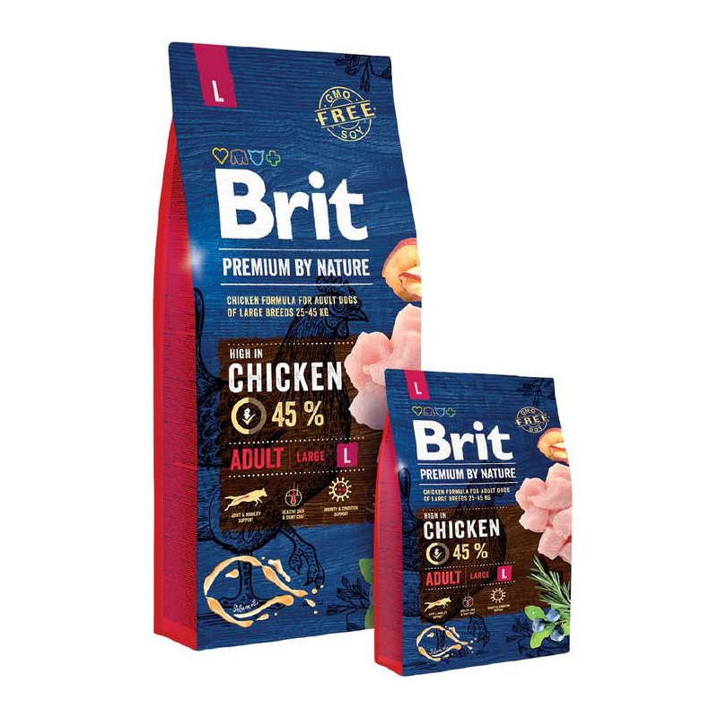 Корм Brit Premium by Nature (Брит Премиум) ADULT L для взрослых собак крупных пород