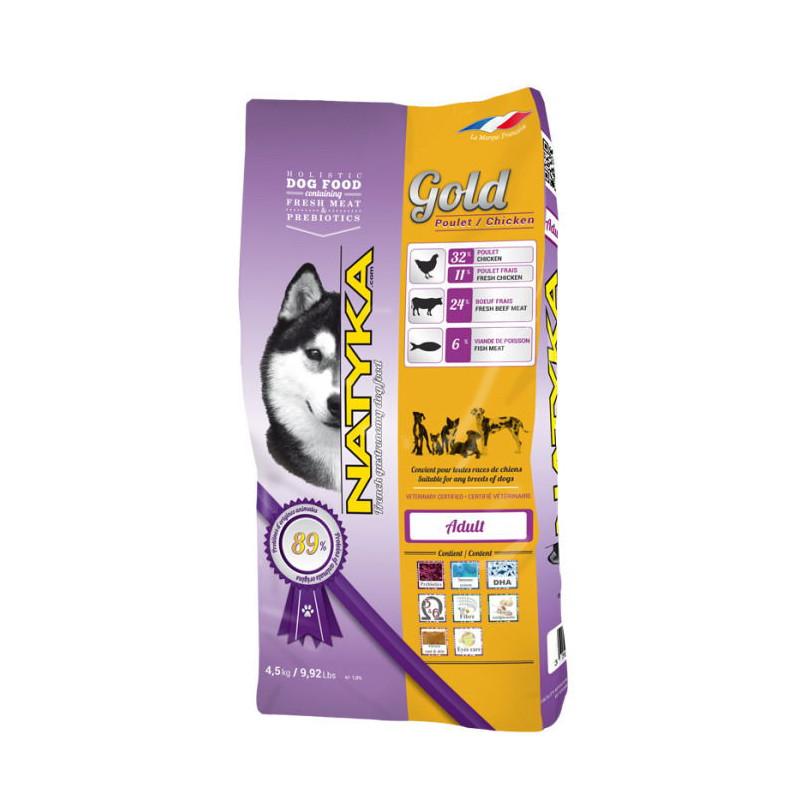 Natyka (Натика) Gold Chicken & Rice Dogs - полувлажный корм для взрослых собак разных пород