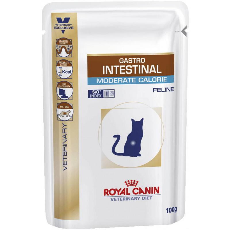 Royal Canin Gastro Intestinal Moderate Calorie Feline при нарушениях пищеварения