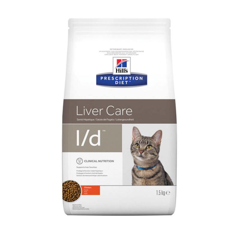 Hill's (Хиллс) Prescription Diet l/d Liver Care - Корм-диета для кошек с курицей ЗДОРЬВЬЕ ПЕЧЕНИ