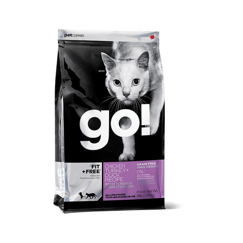 GO!™ FIT + FREE Беззерновой корм для котят и кошек - 4 вида мяса: курица, индейка, утка и лосось