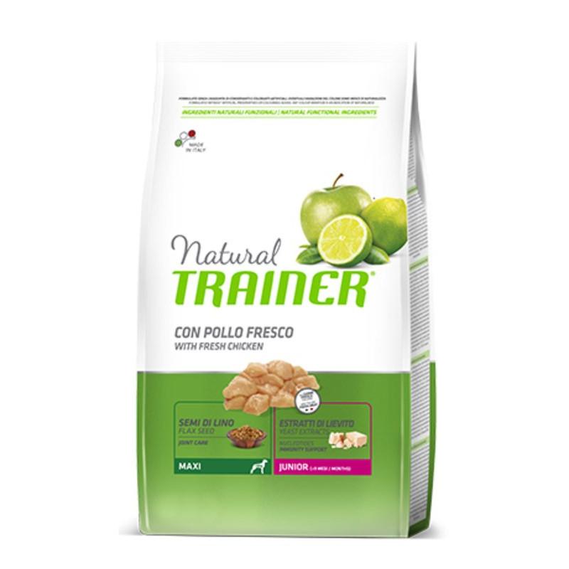 Trainer (Трейнер) Natural Junior Maxi. Сухой корм с курицей и индейкой для юниоров крупных пород с курицей и индейкой