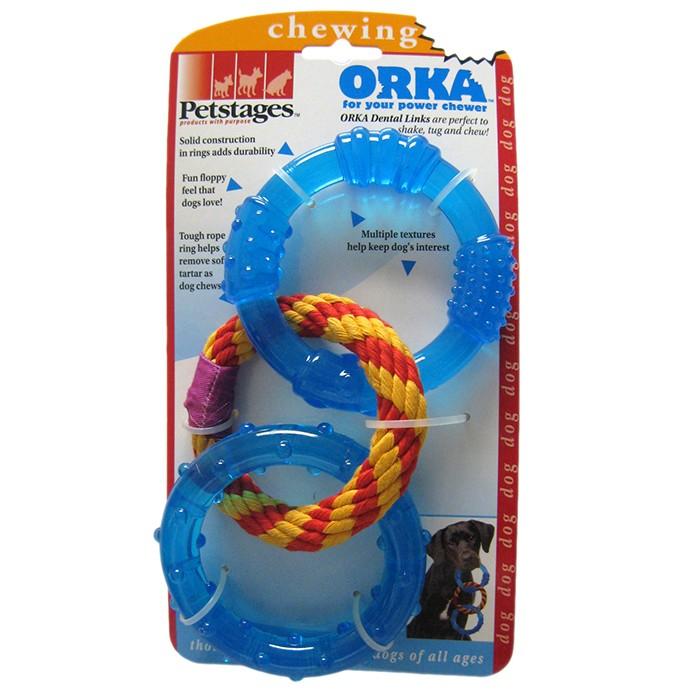 """PETSTAGES Orka Dental Links Игрушка для собак """"Орка кольца для зубов"""" - Фото 3"""