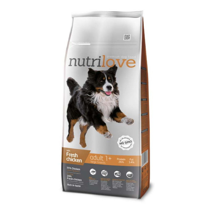 Nutrilove (Нутрилав ) Adult Large Breeds - Корм для взрослых собак крупных пород с курицей и рисом