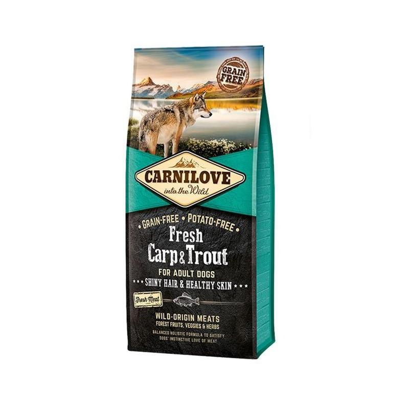 Carnilove Dog Fresh Adult Carp & Trout - полнорационный беззерновой корм для собак, с карпом и форелью