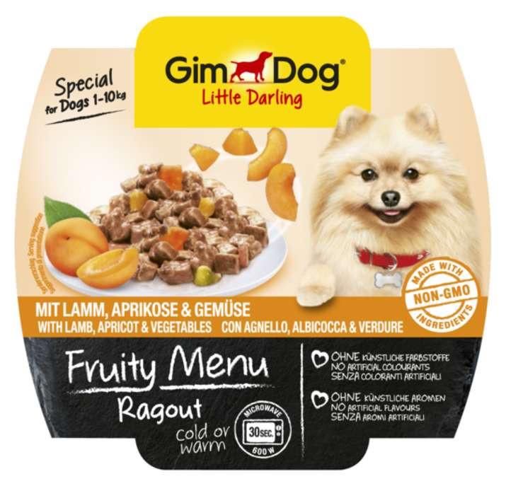 GimDog LITTLE DARLINGD Fruity Menu рагу с ягненком, абрикосом и овощами для собак мелких пород