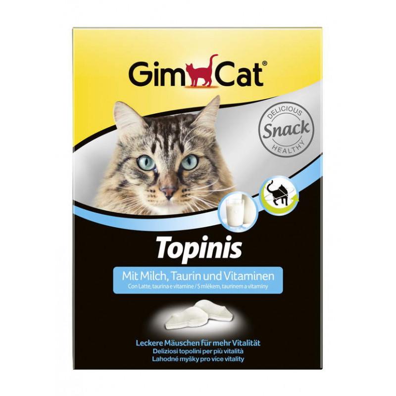 Gimcat (ДжимКэт) Topinis - Витаминные мышки с молоком и таурином для улучшения пищеварения котов и кошек