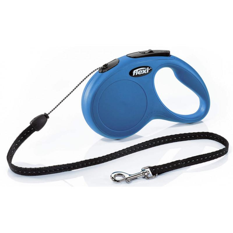 Flexi (Флекси) New Classic S - Поводок-рулетка для собак мелких пород, трос (5 м, до 12 кг)