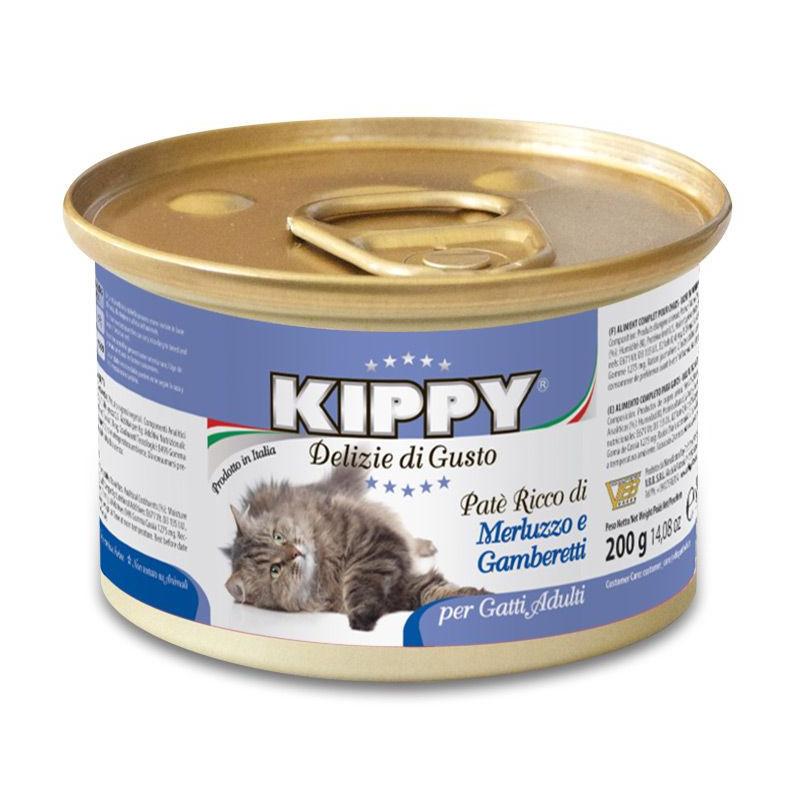 Kippy (Киппи) Cat - Консервы с треской и креветками для кошек