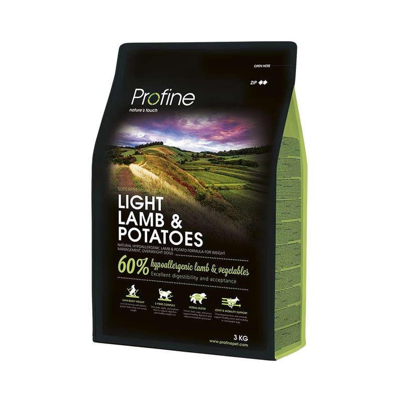 Profine (Профайн) Light Lamb&Potatoes - Сухой гипоаллергенный корм для контроля веса собак с ягненком и картофелем