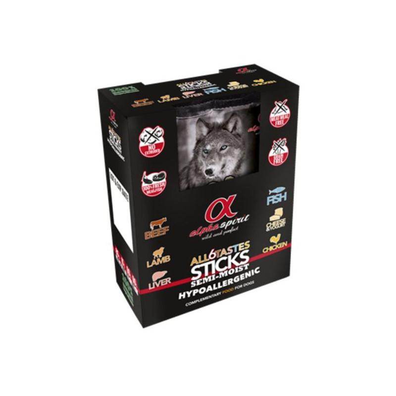 Alpha Spirit (Альфа Спирит) Sticks ALL 6 Tastes in one - полувлажное лакомство для собак